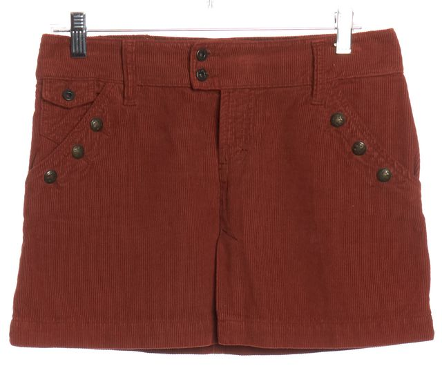 D&G Pumpkin Orange Corduroy Mini Skirt