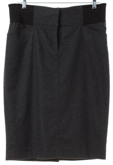 D&G Gray Wool Pencil Skirt