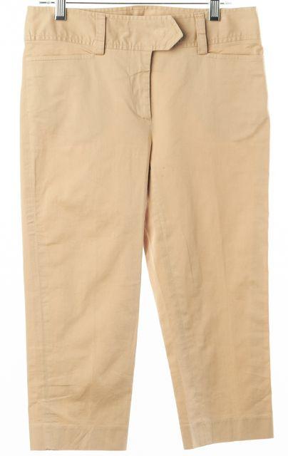D&G Beige Stretch Cotton Capris Cropped Pants