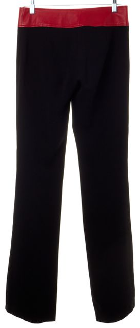 D&G Black Red Leather Waist Pants