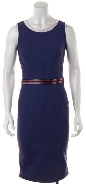 D&G Blue White Red Sleeveless Knee-Length Sheath Dress