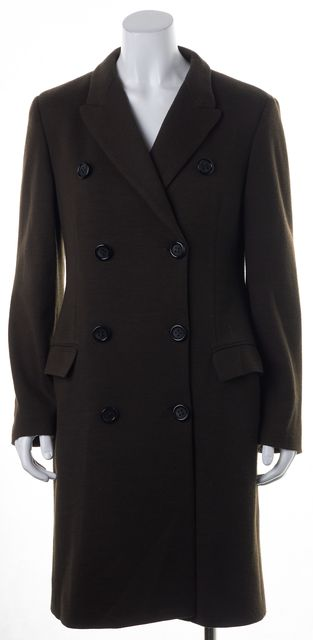 D&G Brown Double Breasted Long Basic Coat