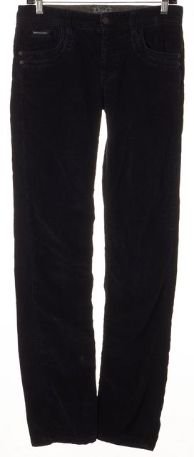 D&G Black Corduroy Boot Cut Pants