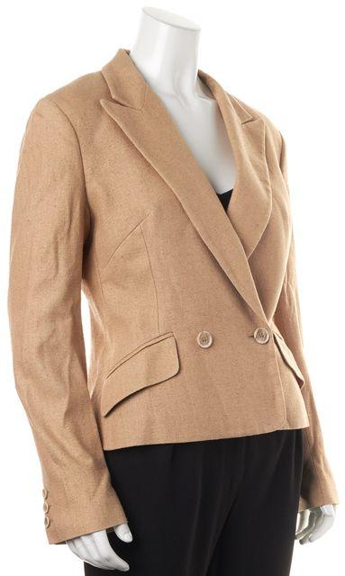 D&G Beige Silk Pocket Front Single Button Blazer