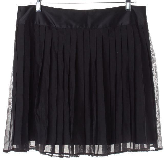 D&G Black Silk Pleated Skirt