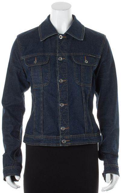 D&G Blue Dark Wash Cotton Denim Jean Jacket