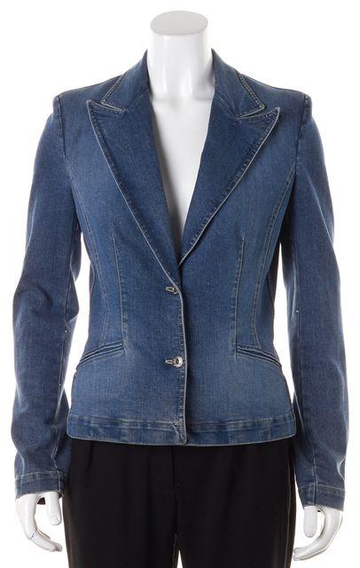 D&G Blue Denim Double Button Blazer Style Jacket