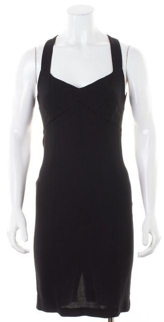 D&G Black Sleeveless Cut-Out Back Sheath Dress