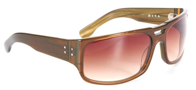 DITA Brown Magnum Rectangular Shield Sunglasses
