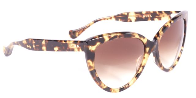 DITA Brown Tortoise Cat Eye Sunglasses