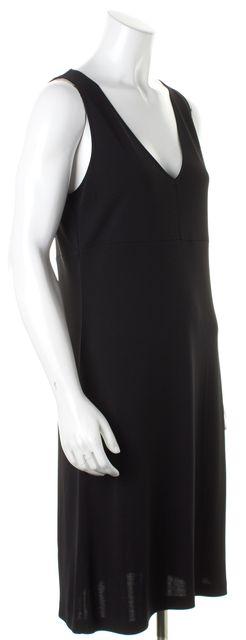 DKNY Black V Neck Sleeveless Sheath Dress