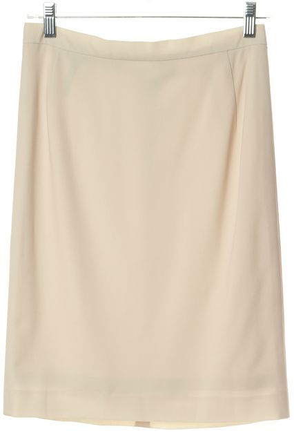 DONNA KARAN Light Beige Classic Pencil Skirt