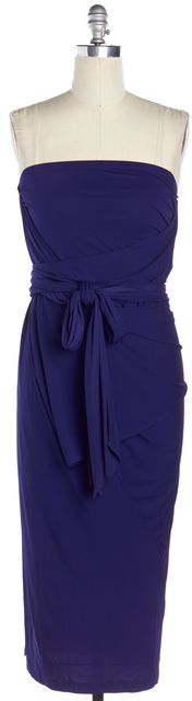 DONNA KARAN Blue Blouson Multi Wrap Dress