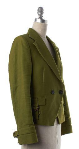 DEREK LAM Olive Green Blazer Jacket