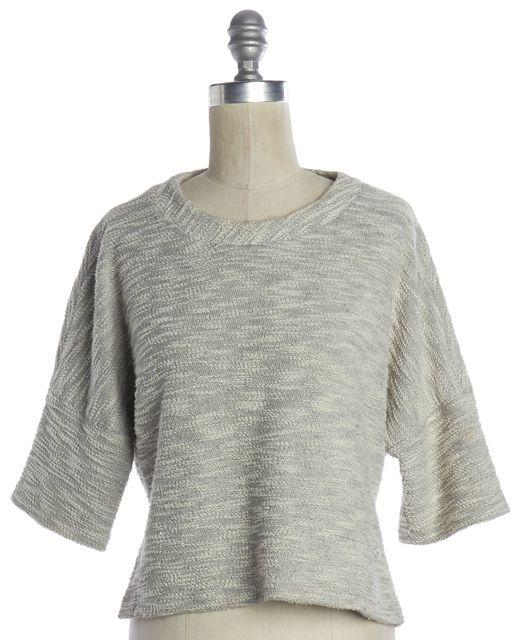 DEREK LAM Gray Tweed Cropped Knit Top