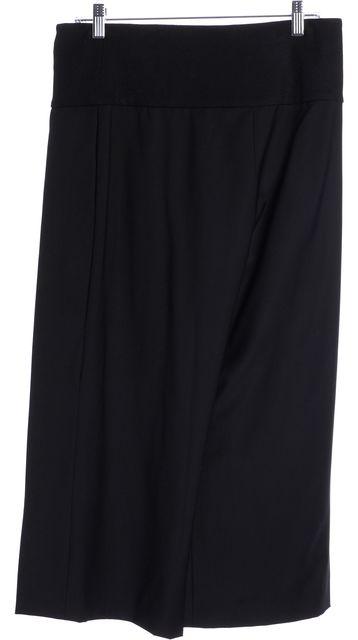 DEREK LAM Black Wool Wide Leg Cropped Skorts Pants
