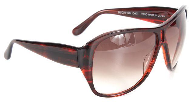 DEREK LAM Burgundy Acetate Gradient Lens Olivia Oversized Oval Sunglasses