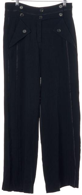 DEREK LAM Black Casual 8 Buttoned Pants