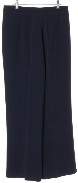 DEREK LAM Navy Wide Leg Trousers Pants
