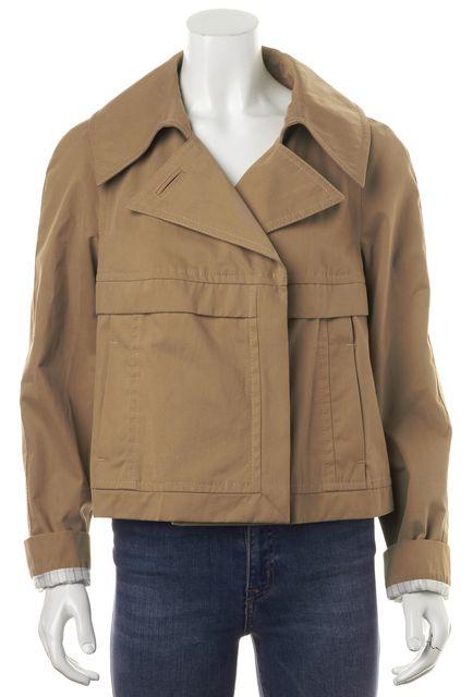 DEREK LAM Beige Cotton Pocket Front Zip-Up Basic Jacket