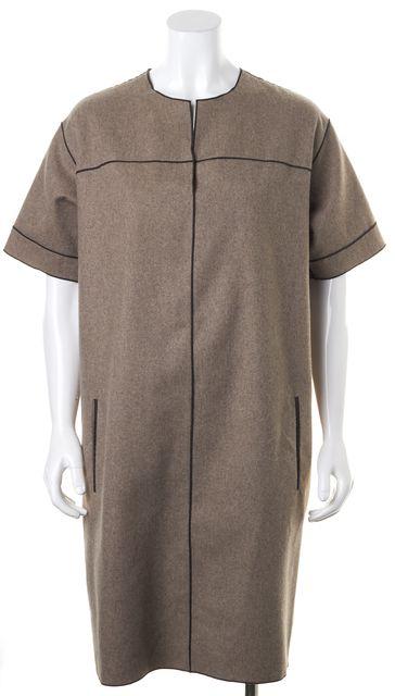 DEREK LAM Brown Wool Shift Sweater Dress