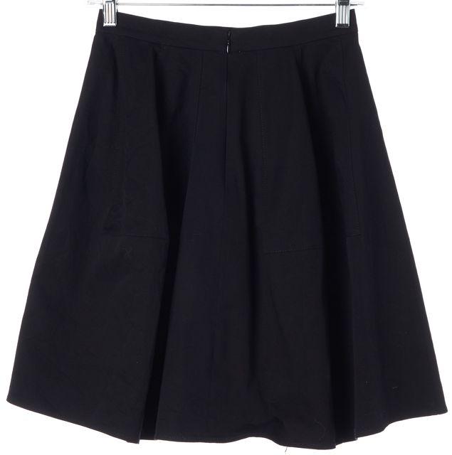 DEREK LAM Black Above Knee A-Line Skirt