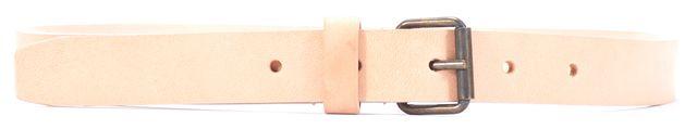DEREK LAM Slight Beige Slim Leather Belt