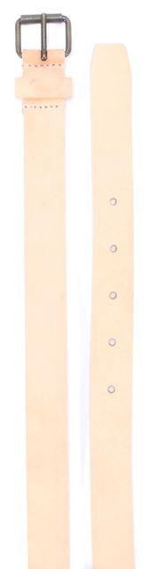 DEREK LAM Light Beige Slim Leather Belt