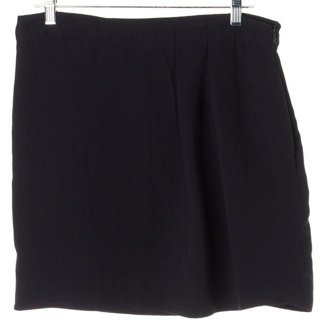 DEREK LAM Black Pleated Detail Straight Skirt