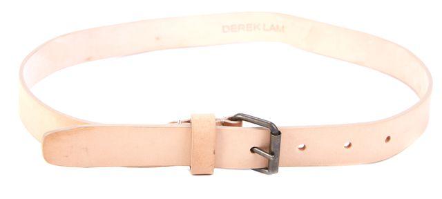 DEREK LAM Light Beige Skinny Leather Belt
