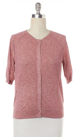 DRIES VAN NOTEN Pink Glitter Knit Button Down Top Fits Like a M