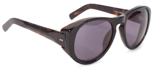 DRIES VAN NOTEN X LINDA FARROW Brown Tortoise Acetate Frame Sunglasses