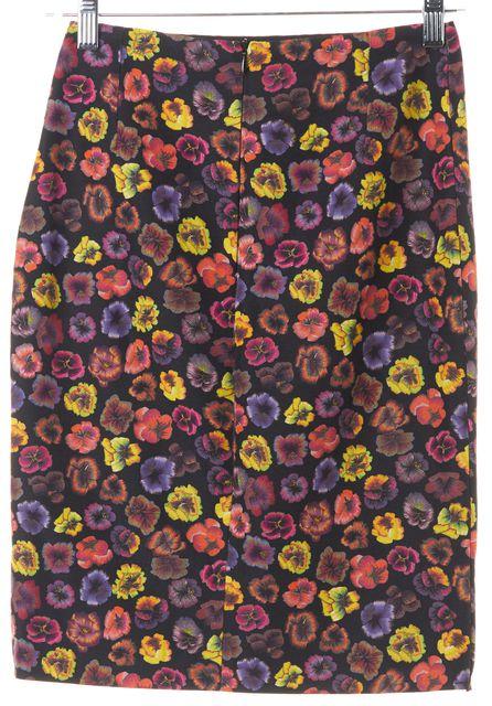 DRIES VAN NOTEN Multi-Color Floral Printed Pencil Skirt