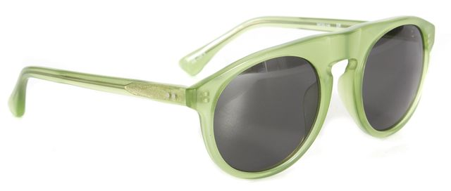 DRIES VAN NOTEN Lime Green Acetate Frame Cat Eye Sunglasses