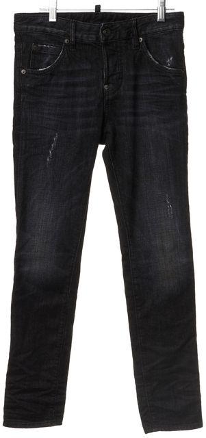 DSQUARED2 Black Distressed Denim Skinny Jeans