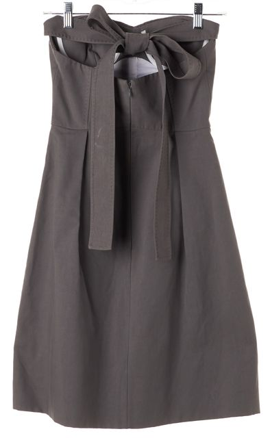 DSQUARED2 Gray Halter Bustier Pleated Dress