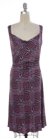 DIANE VON FURSTENBERG Purple Paisley Silk Erina Sheath Dress