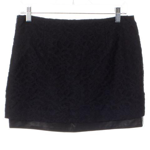 DIANE VON FURSTENBERG Black Lace Elley Mini Skirt
