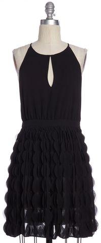 DIANE VON FURSTENBERG Black Fit & Flare Dress Size 4