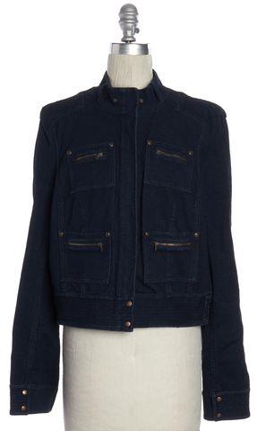 DIANE VON FURSTENBERG Blue Minx Denim Jacket Size 12