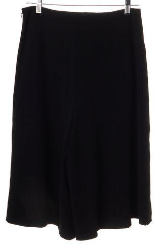 DIANE VON FURSTENBERG Black Guacho Cropped Culottes Trouser Pants Size 6