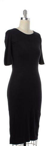 DIANE VON FURSTENBERG Black Stretch Dress Size S