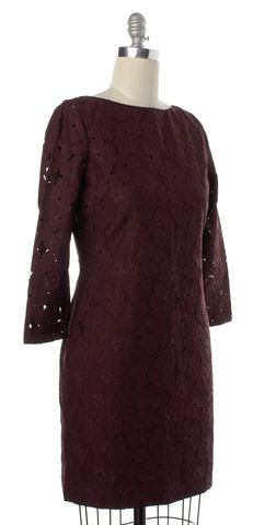 DIANE VON FURSTENBERG NEW NWT Aubergine Purple Sarita Flower Lace Dress Size 8