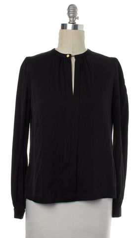 DIANE VON FURSTENBERG Black Silk Blouse Size 6