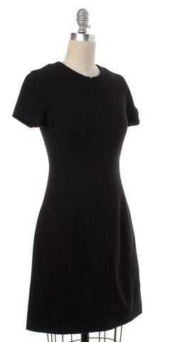 DIANE VON FURSTENBERG Black Agatha Knit Suiting Sheath Dress Size 0