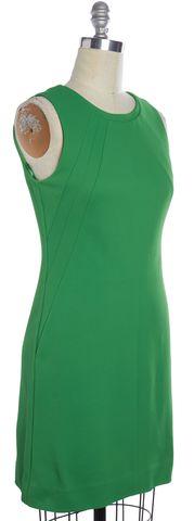 DIANE VON FURSTENBERG Green Carpreena Twill Sheath Dress Size 10