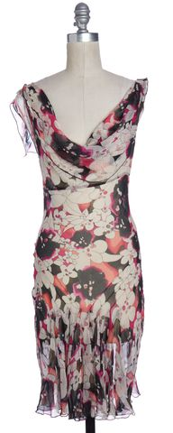 DIANE VON FURSTENBERG Multi-color Floral Silk Marylou Sheath Dress Size 4