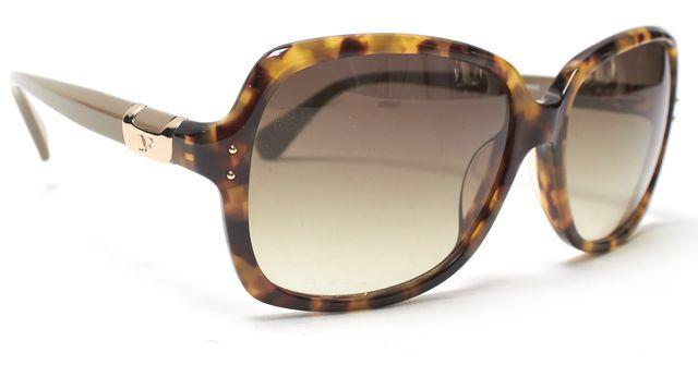 DIANE VON FURSTENBERG Brown Tortoise Shell Nataly Rectangular Sunglasses