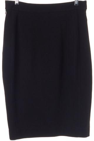 DIANE VON FURSTENBERG Black Panel Acmis Pencil Skirt Fits Like a 6