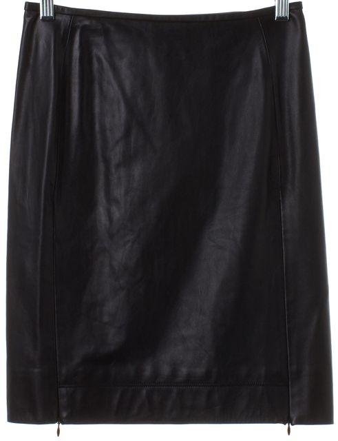 DIANE VON FURSTENBERG Black Rita Two All Over Leather Pencil Skirt